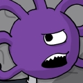 Bee is a purple, round, floating creature, with one eye in the center of their