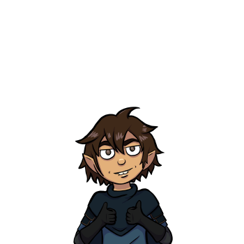 Horbin is a light skinned, Halfling man with brown eyes, and shaggy brown hair. He wears a dark blue cowl that covers his light leather armor and lighter blue tunic.
