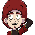 Xavros is a light skinned, freckled, Human man with green eyes, curly red hair that stick ups from the top of his head, and a matching red goatee. He wears a red robe  with gold accents over a long sleeved black shirt, darker red tunic, and leggings.
